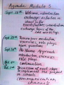 B Agenda for the workshop
