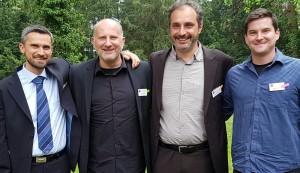 Martin Glažar in Mario Plešej z mentorjem Titusom Möllenbeckom