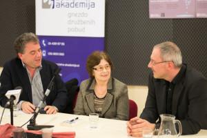 Igor Grdina, Spomenka Hribar in Lenart Škof